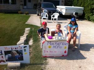 Ice Tea stand for Mackenzie's Hope